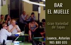 Banner del bar del Muelle de Luanco